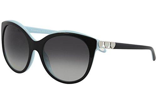 Tiffany 0ty4133 80553c 56, occhiali da sole donna, nero (black/blue/graygradient)
