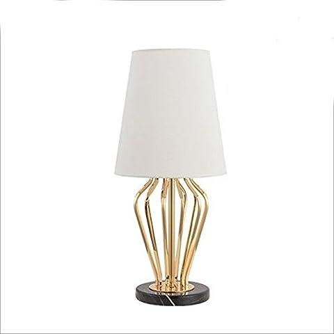 XIANGYU Lampes en fer forgé modernes, lampe de table en tissu simple nordique , lampe d