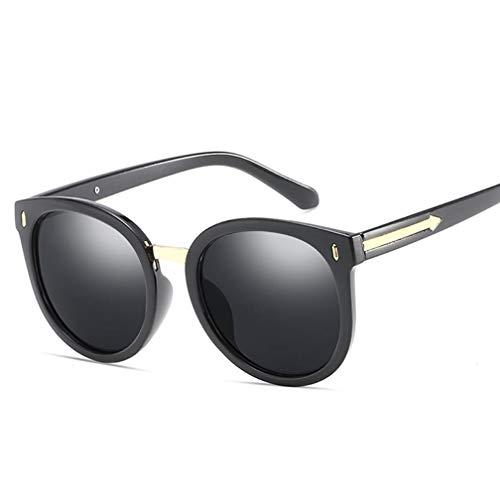 Polarisierte Sonnenbrillen für Damen, Sonnenbrillen Damen Horn Umrandet Klassische Retro Vintage Style Sonnenbrillen Voller UV400-Schutz,B