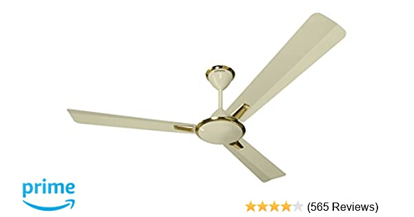 Crompton Aura 1 2 M Ivory Deluxe Aura 48-inch 74-Watt Decorative High Speed  Ceiling Fan (Ivory)