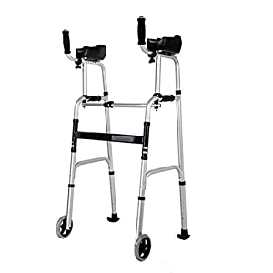 SUN HUIJIE Walker älterer Faltbarer Rollstuhl der Aluminiumlegierung Behinderte Fitnessgeräte