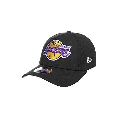 New Era 9Fifty Stretch Snap Lakers Cap Basecap Baseballcap Snapback NBA (S/M (54-57 cm) - schwarz)