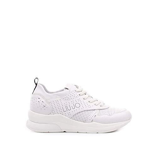 Liu Jo Shoes Karlie 14-Sneaker Calf Leather White 5d7149e1017