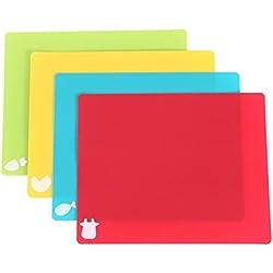 Tablas de Cortar Alimento Profesional Polietileno Antideslizante Plastico Tablas Para Cortar Set de 4 38*30cm