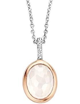 Ti Sento Milano  -  925 Sterling-Silber  rhodiniert Silber Ovalschliff   weiß Cristal Oxyde de Zirconium