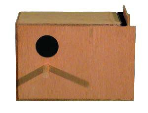 Goodspeed Budgie Bird Left Hand Breeding Wood Nest Box from Goodspeed