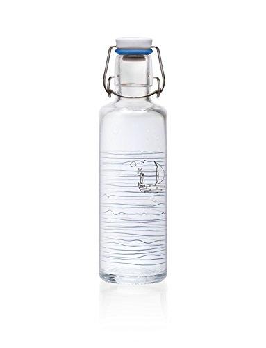 soulbottle 0,6l Trinkflasche aus Glas • verschiedene Designs, Made in Germany, vegan, plastikfrei, Glastrinkflasche, Glasflasche (Heimat.Wasser.)