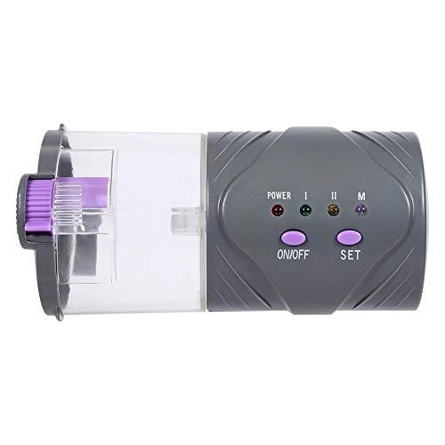 Asixx Alimentador Automático de Peces, Dispensador de Comida, Alimentado por Baterías AA 2pcs 1.5V, para Alimentar Peces