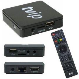 TVIP v.410 S-Box IPTV HD Multimedia Streamer, Middleware, Stalker Betrieb schwarz