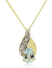Collier - A94TN3510BT - Collar de mujer de oro amarillo (9k) con 1 topacio