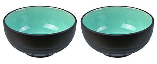 Tokyo Design Studio, Glassy Turquoise, Set avec 2 bols, Ø 16.2 cm, en porcelaine du Japon