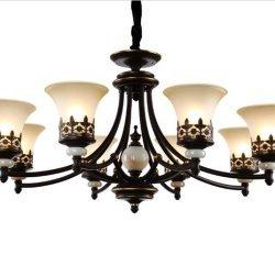 GOWE hierro lámpara araña Luxury LED lámparas araña