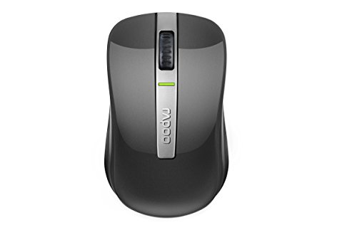 Rapoo 6610 Dual Mode Optical Maus (2,4 GHz Wireless und Bluetooth Funktion, 1000 DPI) grau