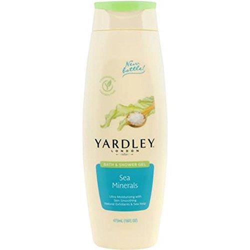 Yardley London Bath and Shower Gel, Skin Smoothing, Sea Minerals 16 fl oz (473 ml) by Yardley