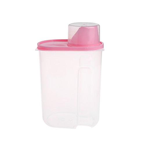 Tandou - Recipiente de plástico para Almacenamiento de Alimentos para Mascotas, dispensador de Alimentos Secos con Taza de medición