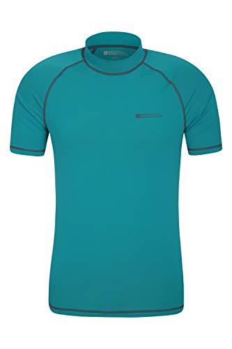 Mountain Warehouse Camiseta térmica con protección Solar UV para Hombre - Camiseta térmica con protección Solar UV UPF50+, Top térmico de Secado rápido, Costuras Planas Verde Turquesa XXX-Large