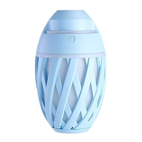 MIANQIANFQ USB-Aroma-wesentliches Öl-Diffusor Ultraschall-Olive-Luftbefeuchter-Luftreiniger LED-Nachtlicht-Lufterfrischer Auto-Lufterfrischer, blau