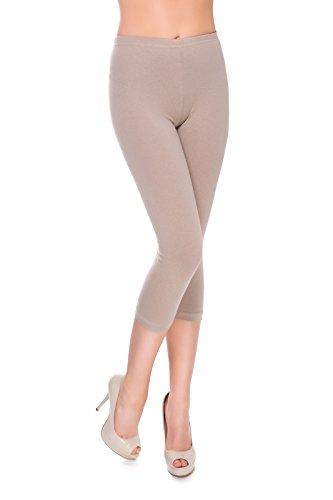 FUTURO FASHION Leggings 3/4 Coton Extra Confort Pantalon Court Grandes Tailles 36-56 MIDL