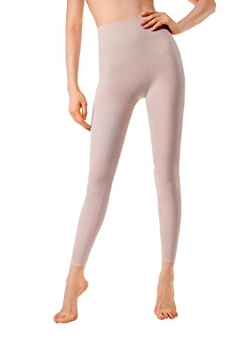 MD Damen Mädchen Shapewear Mieder Pants Yoga Leggings für Sport Bauch Hüften und Oberschenkel Body Shaper Medium Hellnude (Spandex Shaper Leggings)
