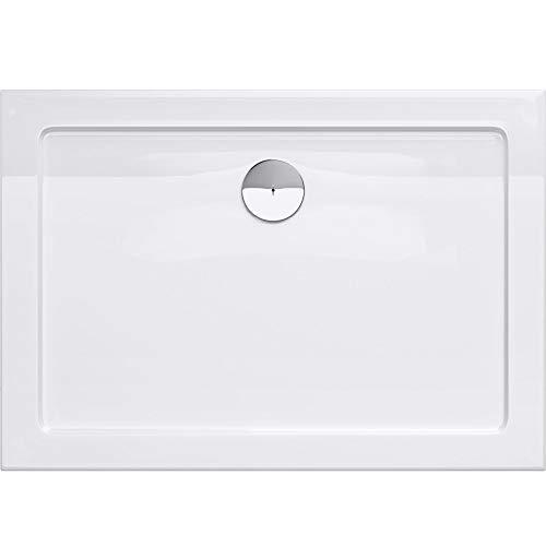 duschwanne 110x100 TBH: 80x100x4cm Design Duschtasse Faro2 in Weiß, Duschwanne, Acrylwanne