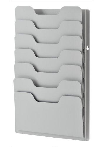 Sandusky Buddy 0810–32Produkte Daten Rack, 7Tasche, Stahl, 34cm x 5.1cm x 54.9cm, platin
