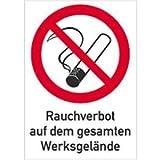Schild Rauchverbot auf gesamten Werksgelände 29,7x21cm