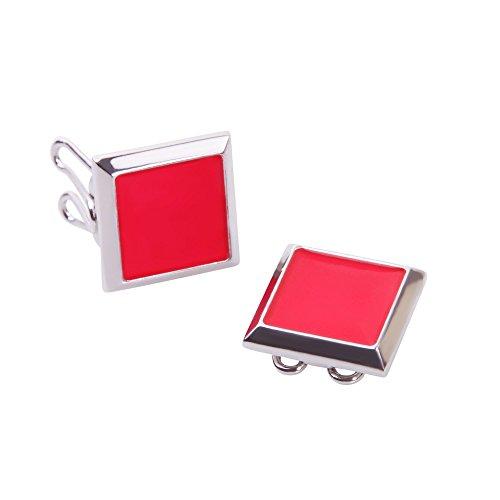 Rote Knopfclips - Die Alternative für Manschettenknöpfe für gewöhnliche (Kleid Kostüm Trauer)