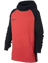 Nike B NK Dry ACDMY Hoodie PO Sweatshirt, Niños, Ember Glow Black, ...