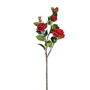 NYWENY Flores Falsas para La Decoración 7 Flores Camelia Flor de Imitación Camelia Artificial Única Oficina Escritorio…