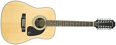 Epiphone DR-212 - Guitarras acústicas con cuerdas metálicas, color natural