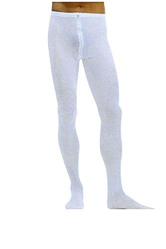 Preisvergleich Produktbild Kostüm Zubehör Herren Strumpfhose weiß Reißverschluss Gr.L/XL