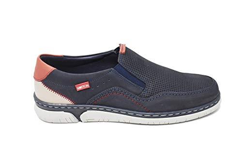 Zapato Piel Nobuck Muy cómodo - Notton 205 - Azul