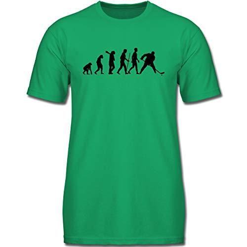 Evolution Kind - Eishockey Evolution - 140 (9-11 Jahre) - Grün - F130K - Jungen Kinder T-Shirt
