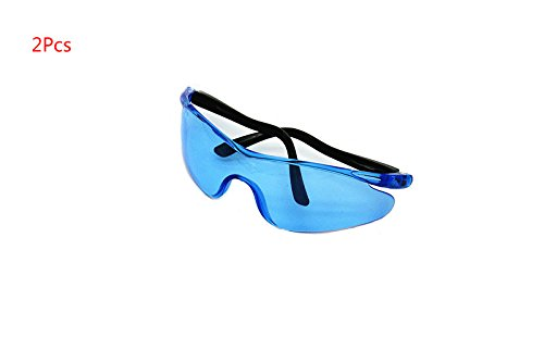 Yalulu 2Pcs Kinder Blau Elastizität Elite Schutz Schutzbrille Brillen für Nerf Gun N-Strike Elite Series (Kinder Nerf-gun-brille)