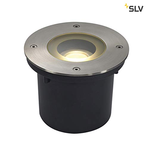 SLV WETSY LED DISK 300 Grondspot 1x7W 3000K RVS LED IP67 230170 - Rvs Bei