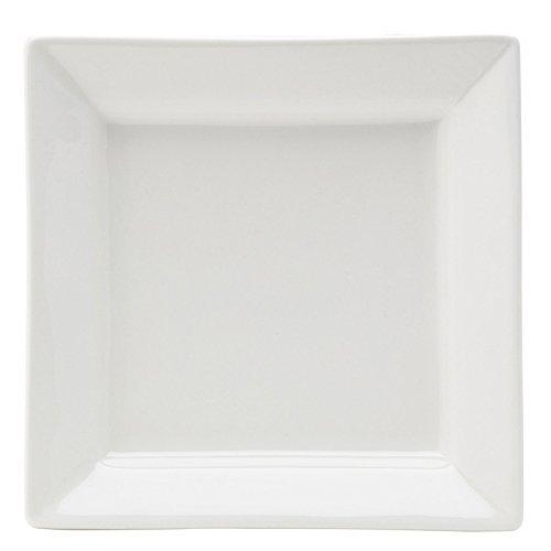 Utopia Anton Noir en porcelaine fine Z03013-000000-b01006 Matrix Deep Assiette carrée, 17,8 cm (lot de 6)