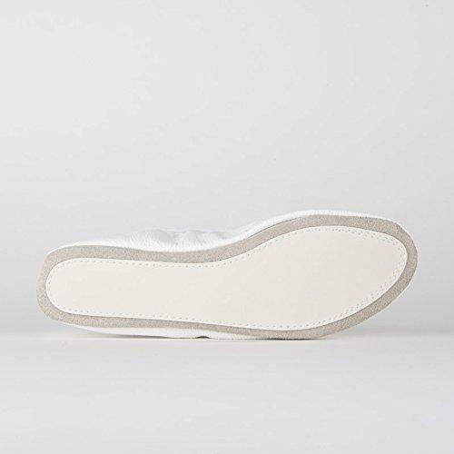 Rumpf 1031 Ballett Gymnastik Sport Fitness Schläppchen Leder Kombisohle Weiß