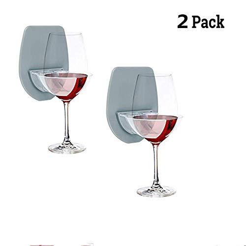 Weinglas-Holder Bathroom Rotwall-Cup kann Badewanne Bier Cupholder Glas für Duschheim-Stard-Saugcup Mount Portable Glasses Drink Holder Holder -