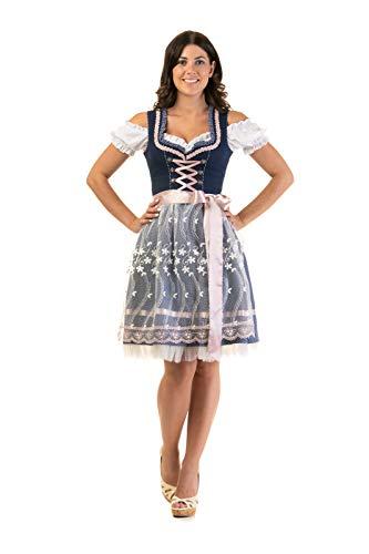 Dirndl Trachtenkleid Damen Steffi 3:TLG Set Bluse und Schürze 40