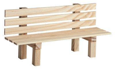 Kimmerle Miniatur Gartenbank aus Holz 9x3x4,5cm Dekoration Modelbau Landschaft Puppen natur Bank