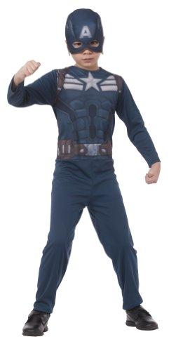 Kostüm Captain America Winter Soldier für Kind ()