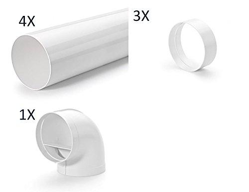 Naber COMPAIR® Rundrohr Set-4/flow 150er / 8-teiliges Set mit Luftleitkörpern