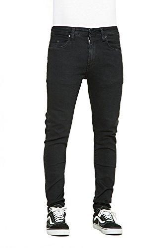 3 Radar (Reell Herren Radar Stretch Jeans, schwarz, 28/3 EU)