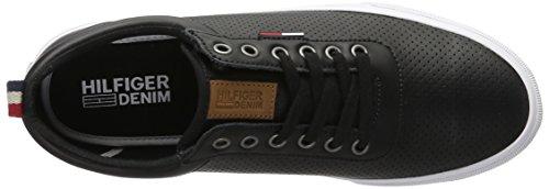 Tommy Hilfiger Herren V2385ibe 1a Low-Top Schwarz (Black 990)