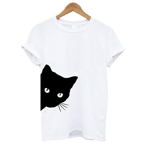 Maglietta Donna Divertenti Vintage Tumblr Magliette Donna Manica Corte estive Ragazza t Shirt Donna Stampata Cuore Bluse Casual Camicia Sportivi