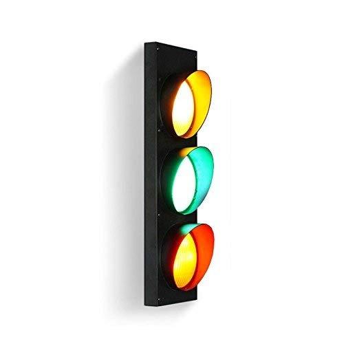 LMDH Éclairage de signalisation murale Applique murale rétro industrielle avec télécommande Applique murale à 3 ampoules DEL à économie d'énergie, finition noire
