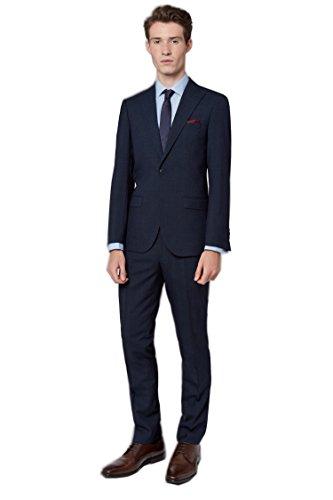 Dressvip classico da uomo regular fit blu navy 3 pezzi adatto per la festa di nozze e affari