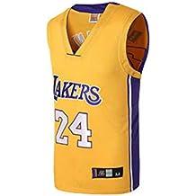Basport Conjunto de Traje de Baloncesto Masculino Lakers No. 24 Kobe Bryant NBA para Hombre