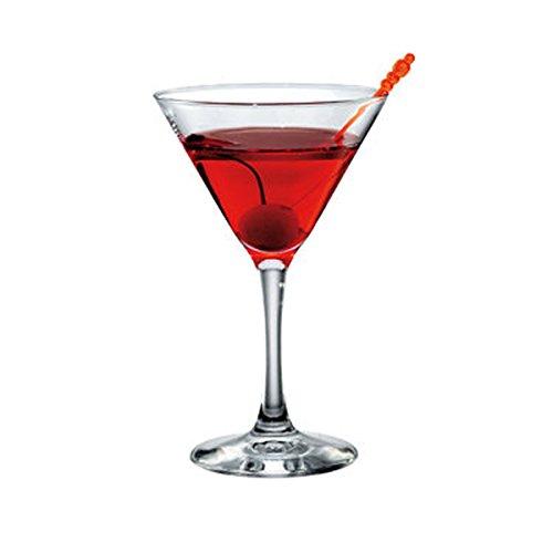 Set von 3Glas-Cocktail Martini 17cl Bormioli Rocco Made in Italy Typ Ypsilon Diamant Cod.9255 (Drei Cocktail-gläser)