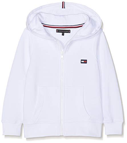 c13427a6 Tommy Hilfiger Hilfiger Logo Zip Hoodie Capucha, Blanco (Bright White 123),  152